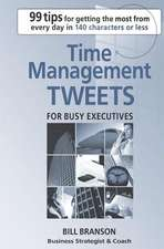 Time Management Tweets for Busy Executives