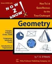 Now 2 Know Geometry