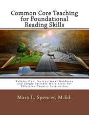 Common Core Teaching for Foundational Reading Skills