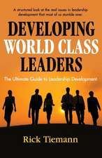 Developing World Class Leaders