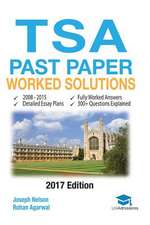 Tsa Past Paper Worked Solutions