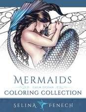 Mermaids - Calm Ocean Coloring Collection:  Book 1 of y Ddraig