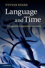 Language and Time: A Cognitive Linguistics Approach
