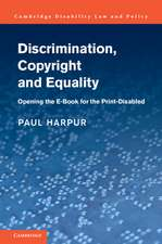 Discrimination, Copyright and Equality: Opening the e-Book for the Print-Disabled