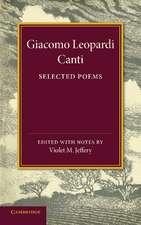 Giacomo Leopardi: Canti: Selected Poems