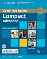 Compact Advanced Student's Book with Answers, CD-ROM and Testbank