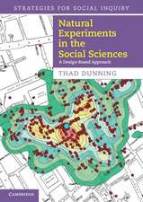Natural Experiments in the Social Sciences: A Design-Based Approach