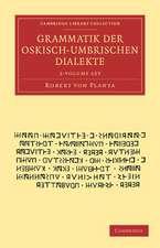 Grammatik der Oskisch-Umbrischen Dialekte 2 Volume Set