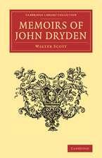 Memoirs of John Dryden