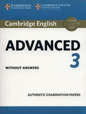 Cambridge English Advanced 3 Student's Book without Answers
