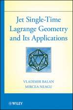 Jet Single–Time Lagrange Geometry and Its Applications