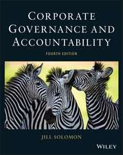 Corporate Governance and Accountability. Jill Solomon (Revised):  China's Missing Modern