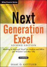 Next Generation Excel: Modeling In Excel For Analysts And MBAs (For MS Windows And Mac OS)