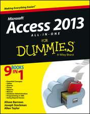 Access 2013 All–in–One For Dummies