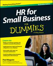 HR For Small Business For Dummies – Australia