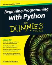 Beginning Programming with Python for Dummies:  Planning, Operation, and Applications