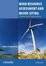 Wind Resource Assessment and Micro–siting: Science and Engineering