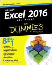 Excel 2016 All–in–One For Dummies