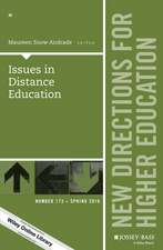 Issues in Distance Education: New Directions for Higher Education, Number 173