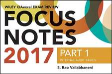 Wiley CIAexcel Exam Review Focus Notes 2017, Part 1