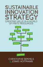 Sustainable Innovation Strategy: Creating Value in a World of Finite Resources