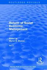 Reform of Soviet Economic Management