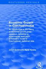 Economic growth in czechoslovakia