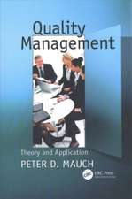 QUALITY MANAGEMENT THEORY AND APPLI