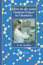 How to do your Student Project in Chemistry