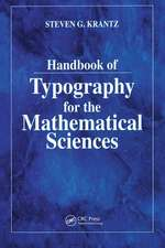 HDBK OF TYPOGRAPHY FOR MATHL SCIS