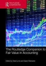 ROUTLEDGE COMPANION TO FAIR VALUE I
