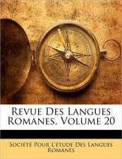 REVUE DES LANGUES ROMANES, VOLUME 20