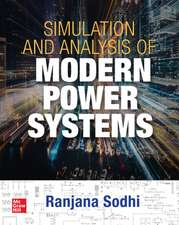 Simulation and Analysis of Modern Power Systems