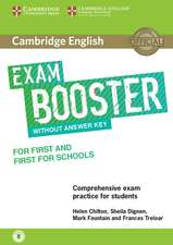 Cambridge English Exam Booster for First and First for Schools without Answer Key with Audio: Comprehensive Exam Practice for Students