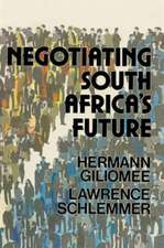 Negotiating South Africa's Future