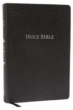 KJV Study Bible, Large Print, Bonded Leather, Black, Thumb Indexed, Red Letter Edition: Second Edition
