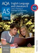 AQA English Language and Literature B AS Unit 2: Themes in language and literature