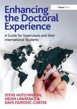 Hutchinson, S: Enhancing the Doctoral Experience