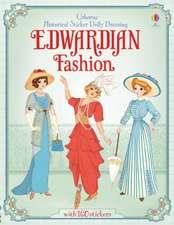 Historical Sticker Dolly Dressing Edwardian Fashion
