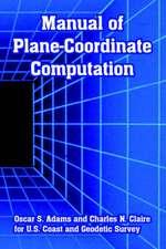 Manual of Plane-Coordinate Computation