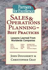 Sales & Operations Planning - Best Practices