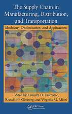 The Supply Chain in Manufacturing, Distribution, and Transportation:  Modeling, Optimization, and Applications