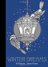 """Winter Dreams 20 Postcards:  20 Vykort Att Farglagga"""""""