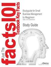 Studyguide for Small Business Management by Megginson, ISBN 9780072497816