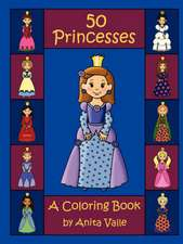 Fifty Princesses: A Coloring Book