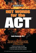Barron's Hot Words for the ACT:  A Step-By-Step Guide to Epic Combat Scenes