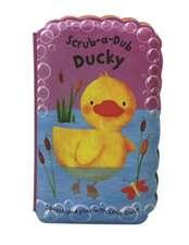 Scrub-A-Dub Ducky:  Bath Mitt and Bath Book Set