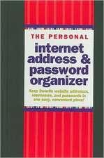 The Personal Internet Address & Password Organizer:  Our Anniversary Album