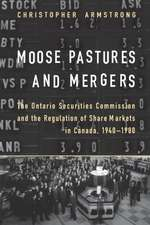 Moose Pastures and Mergers