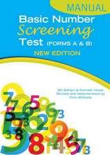 Basic Number Screening Test Specimen Set